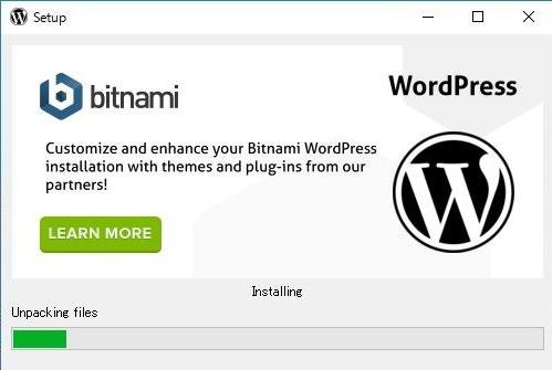 Bitnami-WordPressインストール画面(インストール開始)